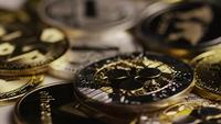 Roterande skott av Bitcoins (Digital Cryptocurrency) - BITCOIN MIXED 087