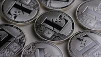 Rotating shot of Litecoin Bitcoins (digital cryptocurrency) - BITCOIN LITECOIN 0116