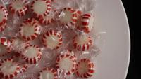 Rotating shot of peppermint candies - CANDY PEPPERMINT 002