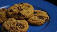 Cinematic, Rotating Shot of Cookies on a Plate - COOKIES 368