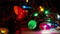 Cinematic, Rotating Shot of ornamental Christmas lights - CHRISTMAS 058