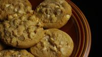Cinematic, Rotating Shot of Cookies on a Plate - COOKIES 326