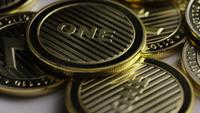 Roterende opname van Litecoin Bitcoins (digitale cryptocurrency) - BITCOIN LITECOIN 0077