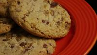 Cinematic, Rotating Shot of Cookies on a Plate - COOKIES 341