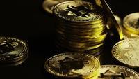 Tiro giratorio de Bitcoins (criptomoneda digital) - BITCOIN 0109