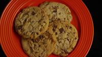 Cinematic, Rotating Shot of Cookies on a Plate - COOKIES 348