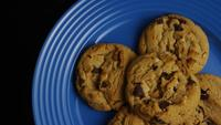 Cinematic, Rotating Shot of Cookies on a Plate - COOKIES 358