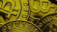 Roterende opname van Bitcoins (digitale cryptocurrency) - BITCOIN 0229