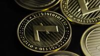 Rotating shot of Bitcoins (digital cryptocurrency) - BITCOIN LITECOIN 286