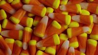 Rotating shot of Halloween candy corn - CANDY CORN 020