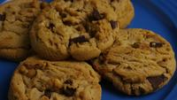 Cinematic, Rotating Shot of Cookies on a Plate - COOKIES 366