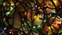 Cinematic, Rotating Shot of ornamental Christmas lights - CHRISTMAS 050