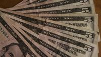 Rotating shot of American money (currency) - MONEY 526