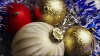 Cinematic, Rotating Shot of Christmas ornaments - CHRISTMAS 033