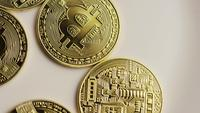Roterande skott av Bitcoins (Digital Cryptocurrency) - BITCOIN 0154