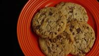 Cinematic, Rotating Shot of Cookies on a Plate - COOKIES 349