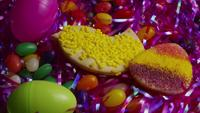 Cinematic, Rotating Shot of Easter Cookies on a Plate - COOKIES EASTER 021