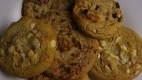 Cinematic, Rotating Shot of Cookies on a Plate - COOKIES 377