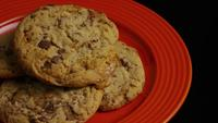 Cinematic, Rotating Shot of Cookies on a Plate - COOKIES 336