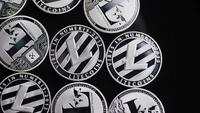 Rotating shot of Bitcoins (digital cryptocurrency) - BITCOIN LITECOIN 503
