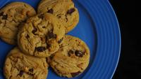Cinematic, Rotating Shot of Cookies on a Plate - COOKIES 357