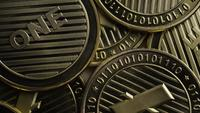 Rotating shot of Litecoin Bitcoins (digital cryptocurrency) - BITCOIN LITECOIN 0070