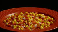 Rotating shot of Halloween candy corn - CANDY CORN 030
