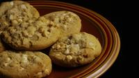 Cinematic, Rotating Shot of Cookies on a Plate - COOKIES 330