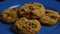 Cinematic, Rotating Shot of Cookies on a Plate - COOKIES 370