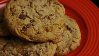 Cinematic, Rotating Shot of Cookies on a Plate - COOKIES 335