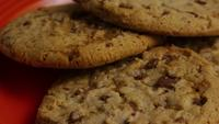 Cinematic, Rotating Shot of Cookies on a Plate - COOKIES 342