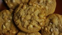 Cinematic, Rotating Shot of Cookies on a Plate - COOKIES 323