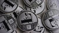 Plan tournant de Litecoin Bitcoins (crypto-monnaie numérique) - BITCOIN LITECOIN 0169