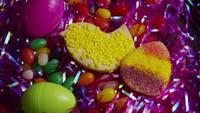 Cinematic, Rotating Shot of Easter Cookies on a Plate - COOKIES EASTER 018