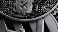 Rotating shot of Bitcoins (digital cryptocurrency) - BITCOIN LITECOIN 541