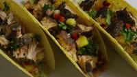 Rotating shot of delicious, fish tacos - FOOD 011