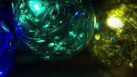 Cinematic, Rotating Shot of ornamental Christmas lights - CHRISTMAS 035