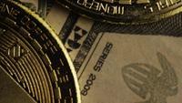Roterande skott av Bitcoins (Digital Cryptocurrency) - BITCOIN MONERO 165