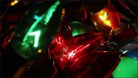 Cinematic, Rotating Shot of ornamental Christmas lights - CHRISTMAS 057