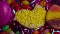 Cinematic, Rotating Shot of Easter Cookies on a Plate - COOKIES EASTER 020
