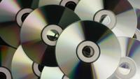 Rotating shot of compact discs - CDs 033