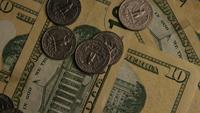 Rotierender Schuss des amerikanischen Geldes (Währung) - GELD 522