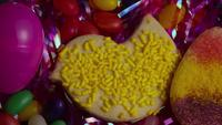Cinematic, Rotating Shot of Easter Cookies on a Plate - COOKIES EASTER 024