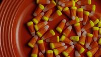 Rotating shot of Halloween candy corn - CANDY CORN 002