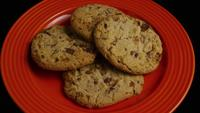 Cinematic, Rotating Shot of Cookies on a Plate - COOKIES 344