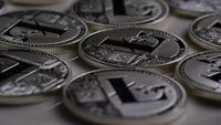 Roterande skott av Litecoin Bitcoins (digital cryptocurrency) - BITCOIN LITECOIN 0124