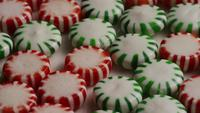 Rotating shot of spearmint hard candies - CANDY SPEARMINT 066
