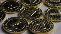 Tiro rotativo de Bitcoins Litecoin (cryptocurrency digital) - BITCOIN LITECOIN 0009