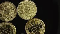 Plan tournant de Bitcoins (crypto-monnaie numérique) - BITCOIN 0497
