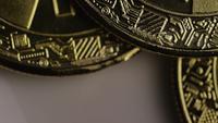 Tiro rotativo de Bitcoins (cryptocurrency digital) - BITCOIN 0298
